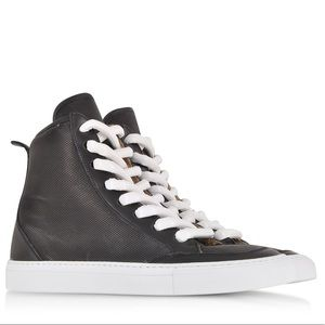 MM6 Margiela Black Perforated Eco Leather Sneaker